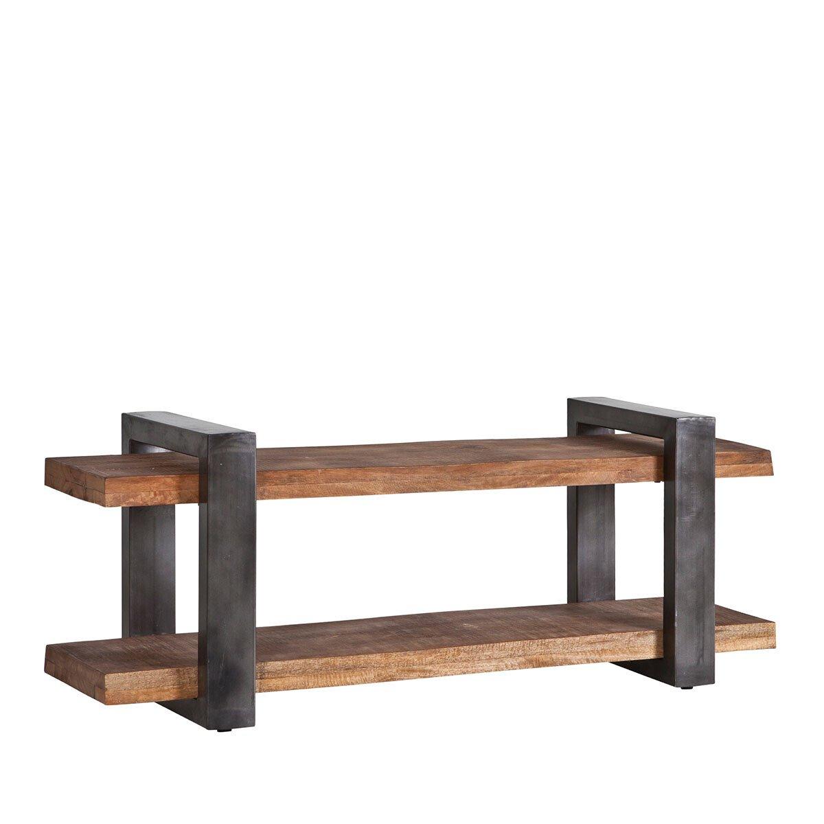 Eleonora TV meubel Mango zwart 55 x 150 x 40