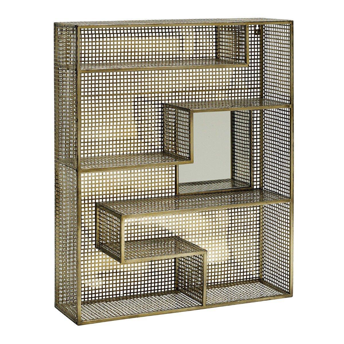 Nordal wandrek mirror metaal goud 91x75x20