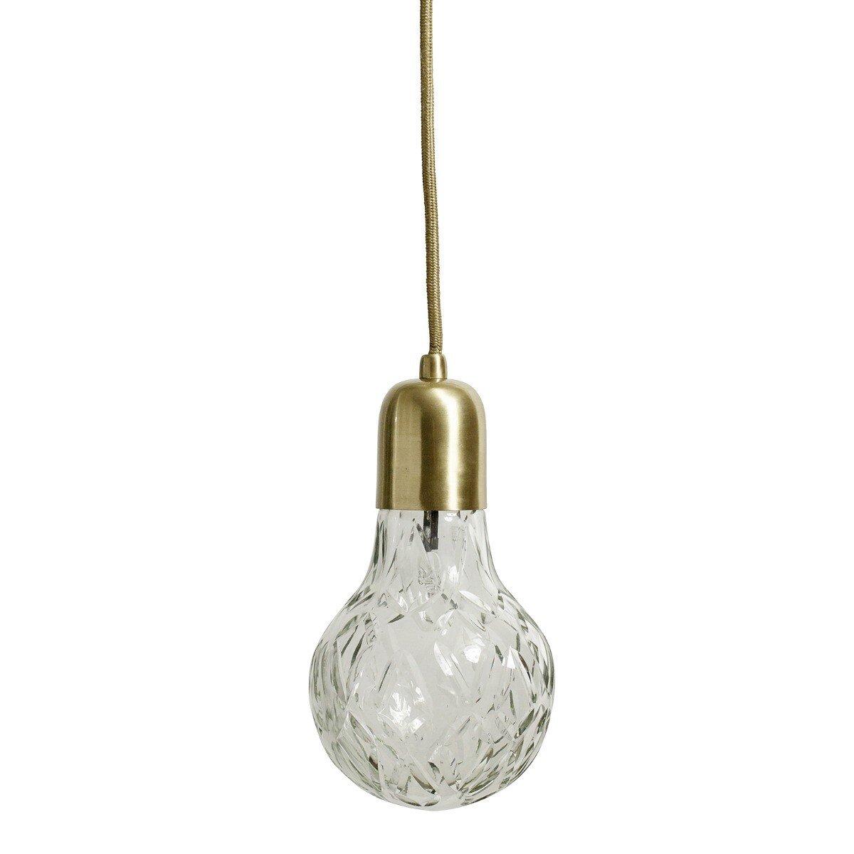 Nordal Hanglamp Crystal Bulb Glass 24 x �12