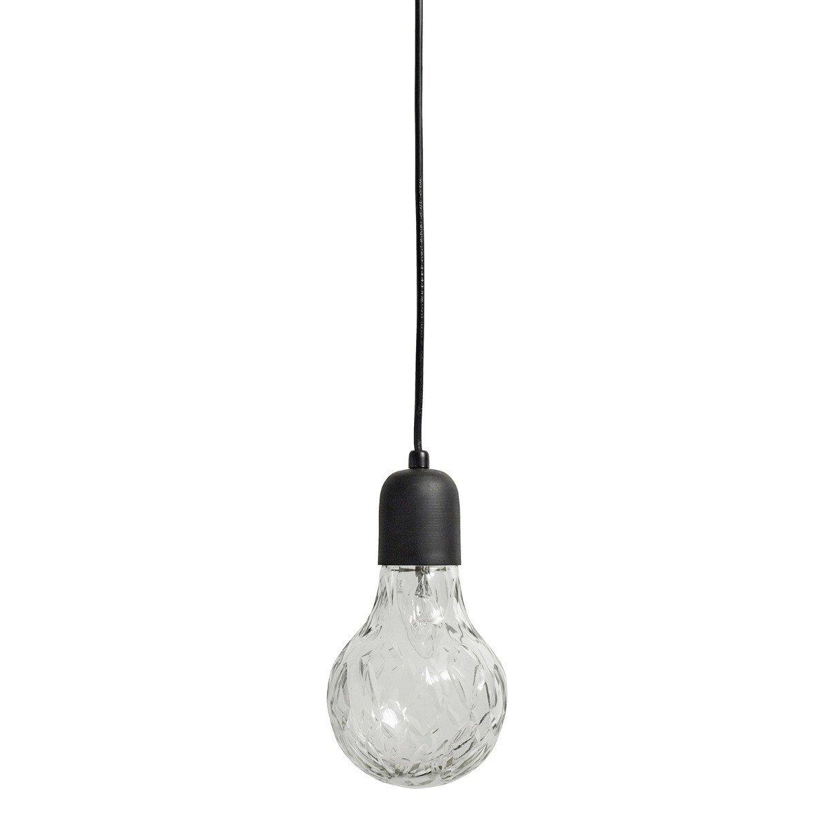 Nordal Hanglamp Crystal Bulb glass black 24 x �12