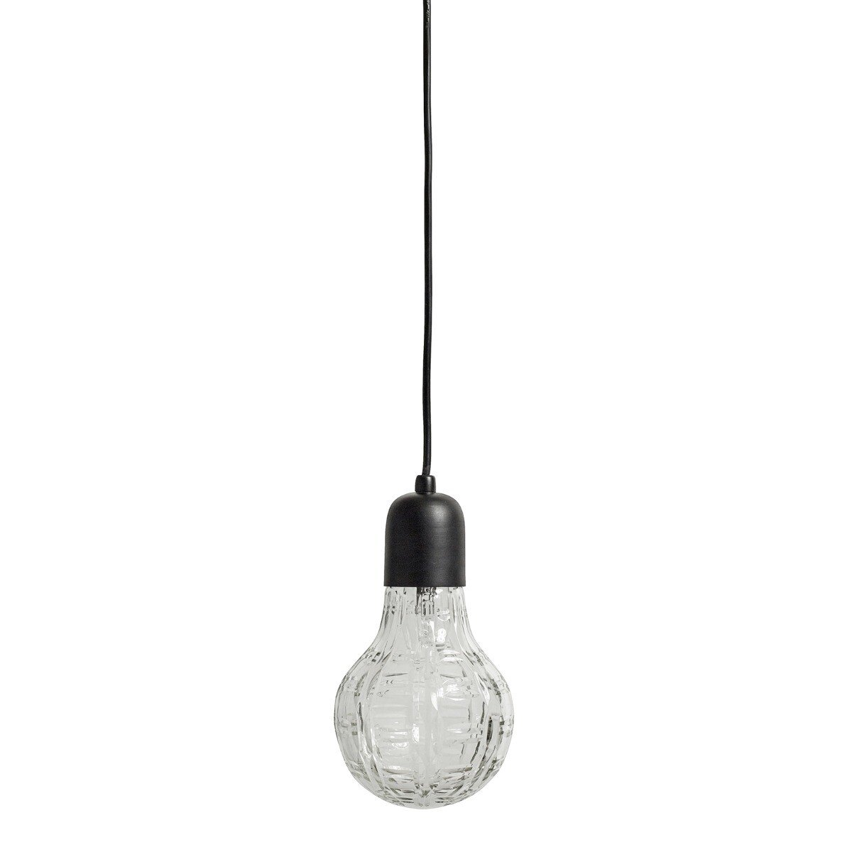 Nordal Hanglamp Crystal bulb glas black 24 x �12