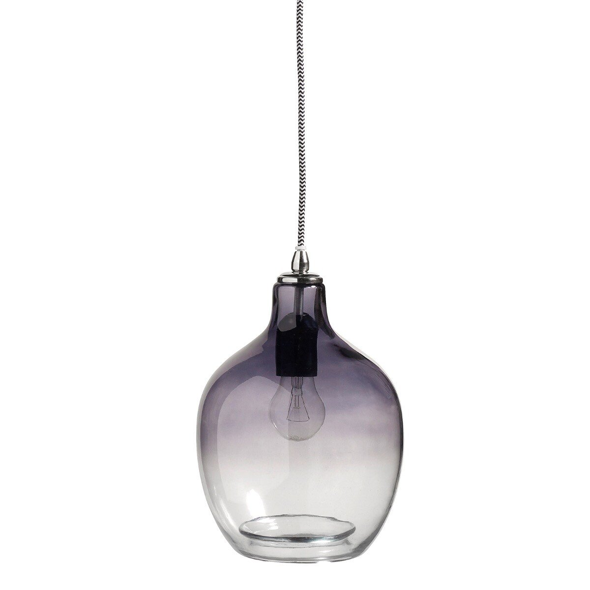 Nordal Hanglamp Bubble Recycled glas grijs 26x�20