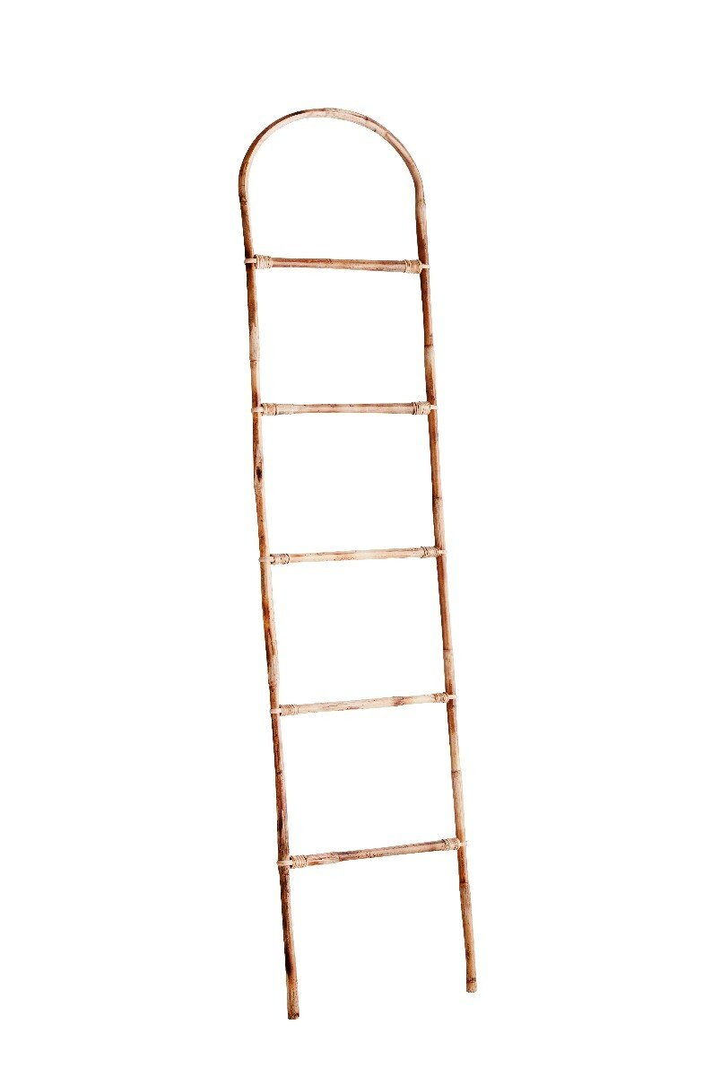 Madam Stoltz ladder bamboe naturel 170 x 40