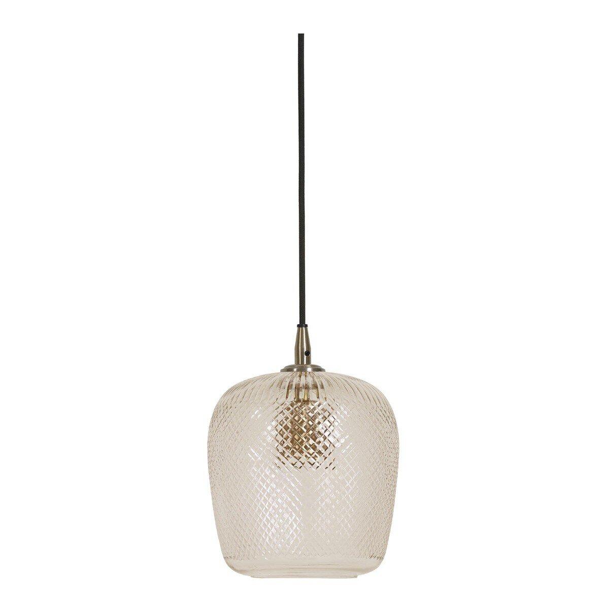 Light & Living Hanglamp DANITA glas antiek brons S
