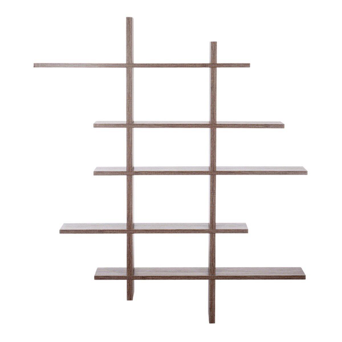 J-Line Wandrek Ziggi naturel hout MDF 130 x 115 x 14
