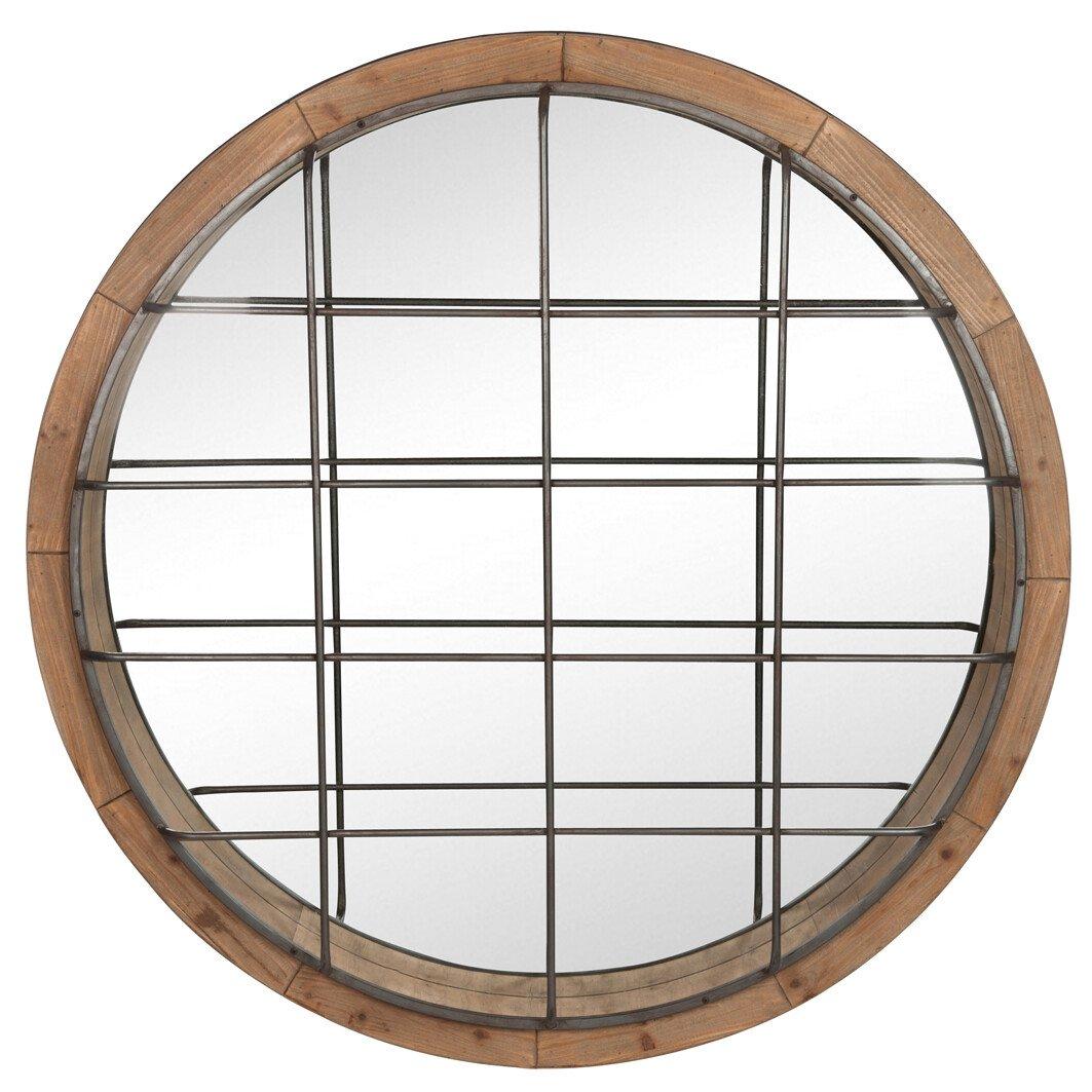 J-Line Spiegel round XL hout �122 x 13
