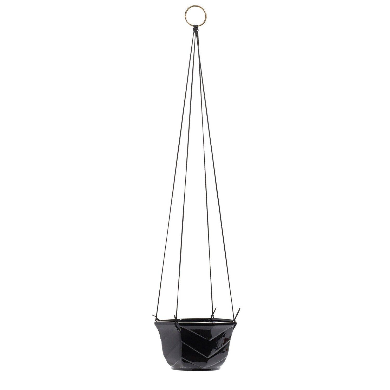Nordal Hangende Bloempot zwart 10 x �16