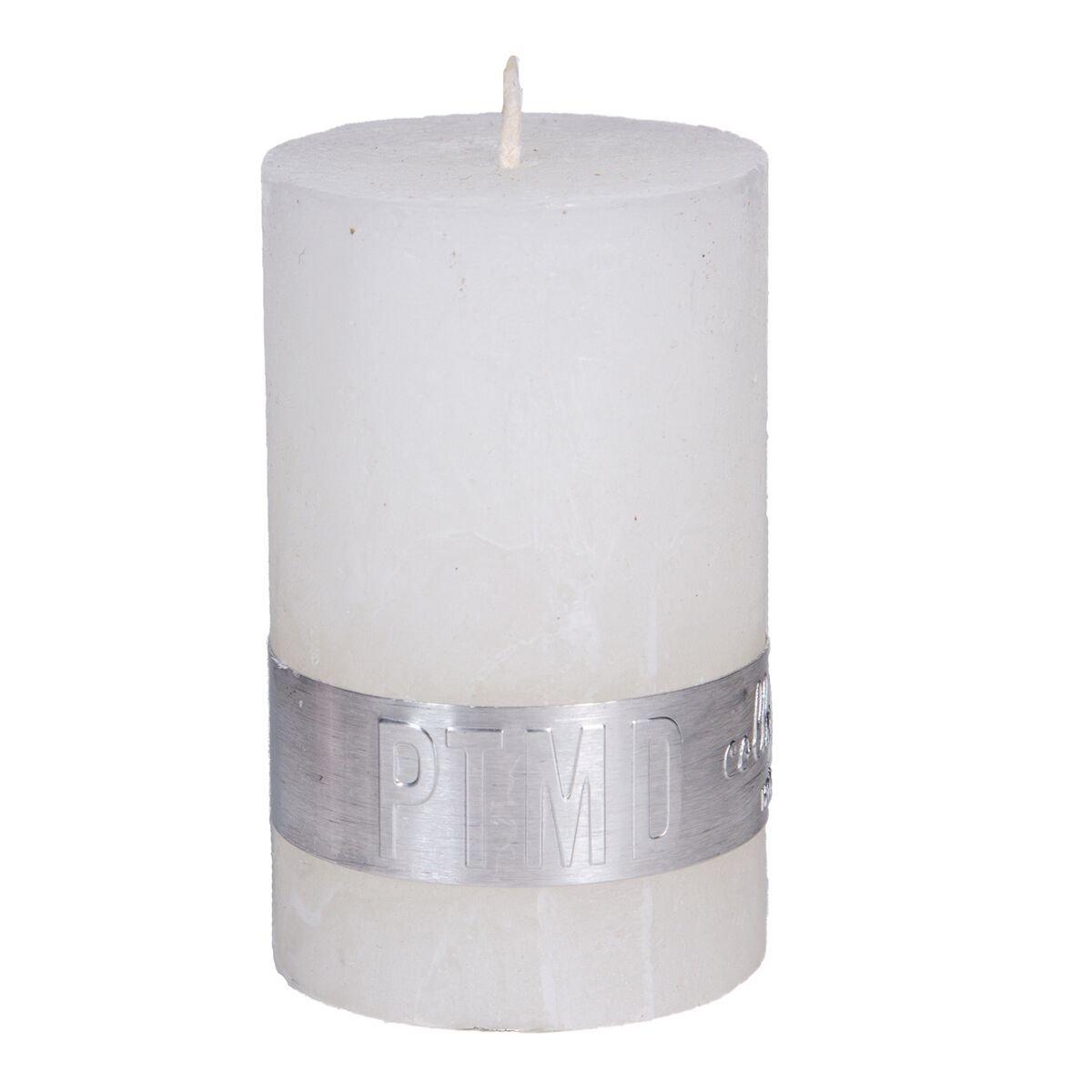 PTMD Kaars hot white 8x5cm