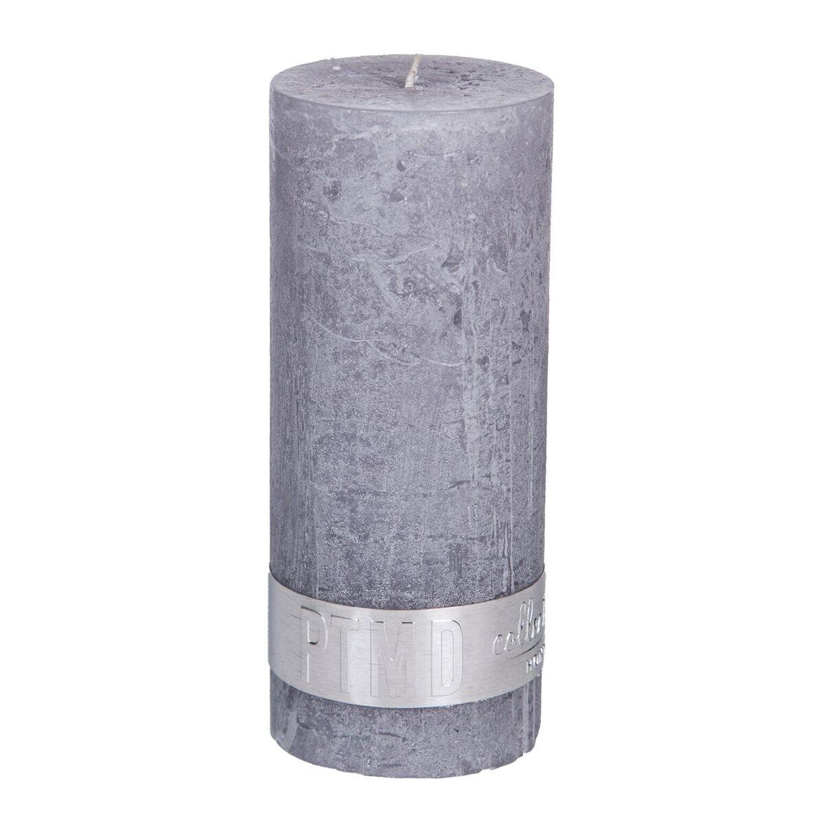 PTMD Kaars suede grey 12x5cm