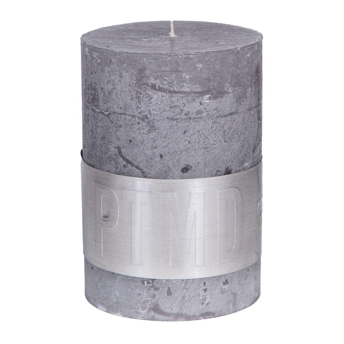 PTMD Kaars suede grey 10x7cm