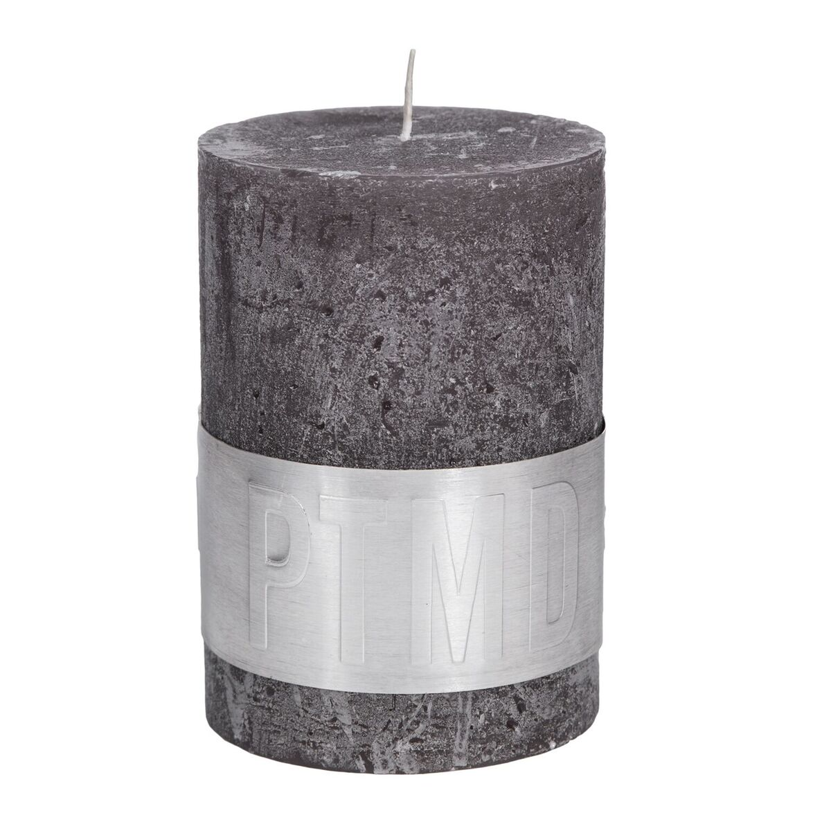 PTMD Kaars swish grey 10x7cm