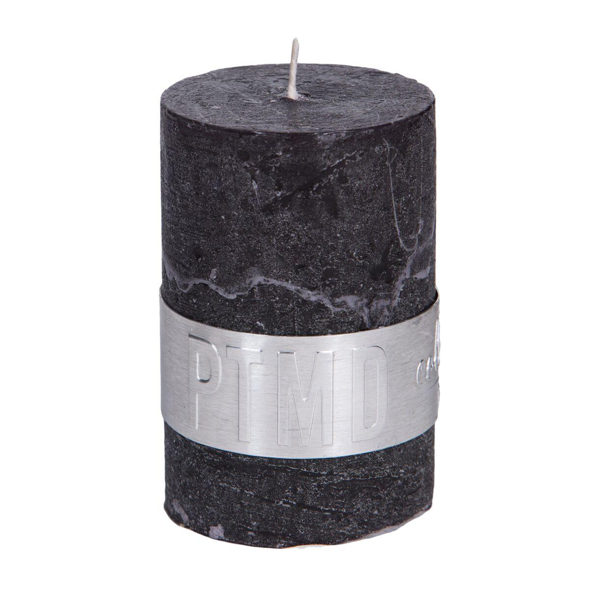 PTMD Kaars charcoal black 6x4cm