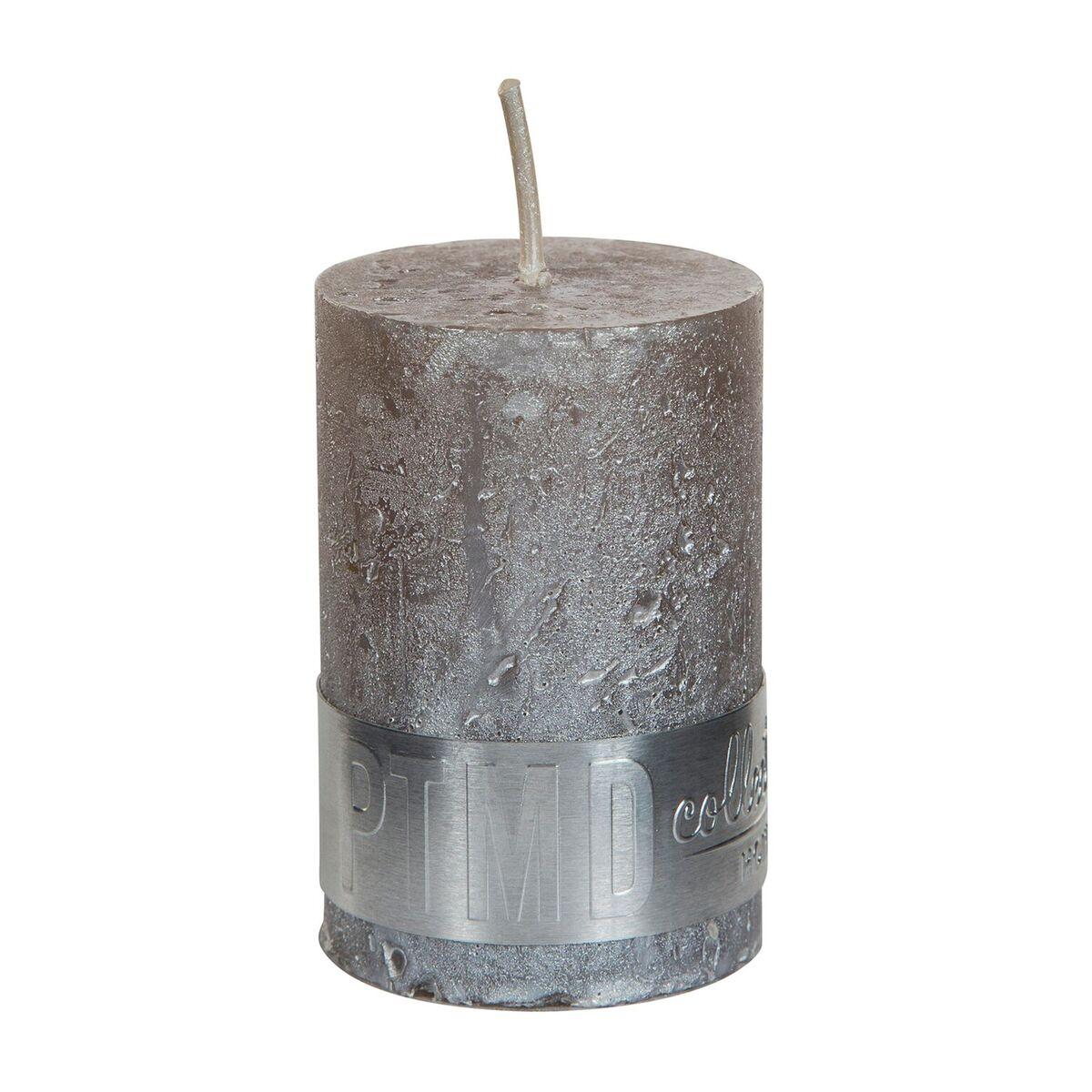 PTMD Kaars metallic taupe 6x4cm