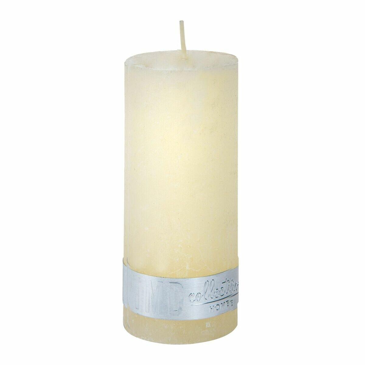 PTMD Kaars Rustic cream white pillar 12x5