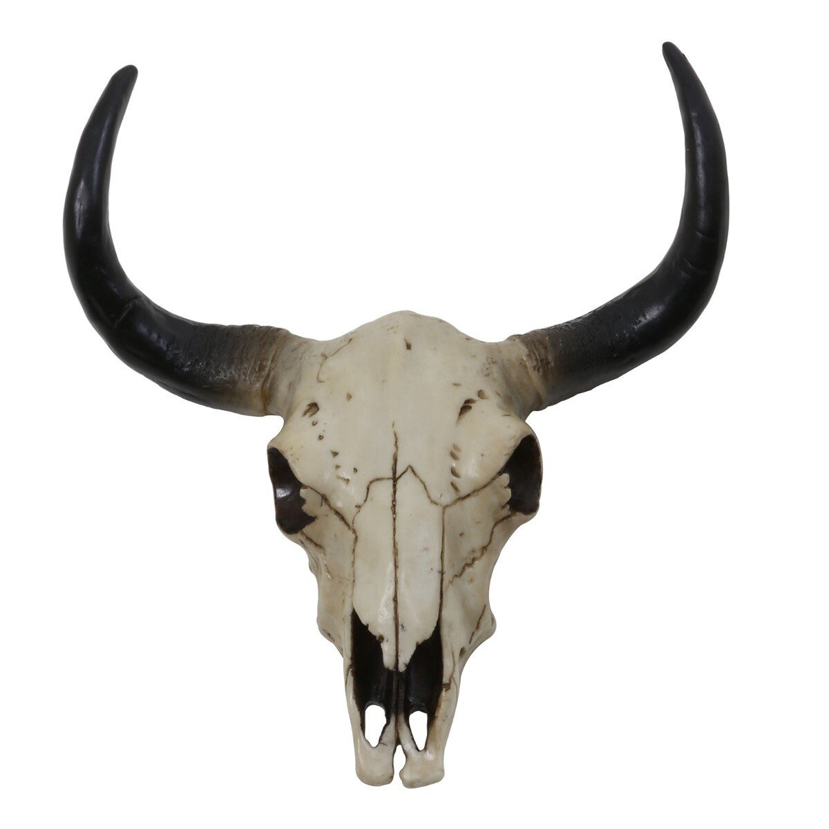 Light&Living Dierenkop Skull buffel wit-zwart L 34 x 31