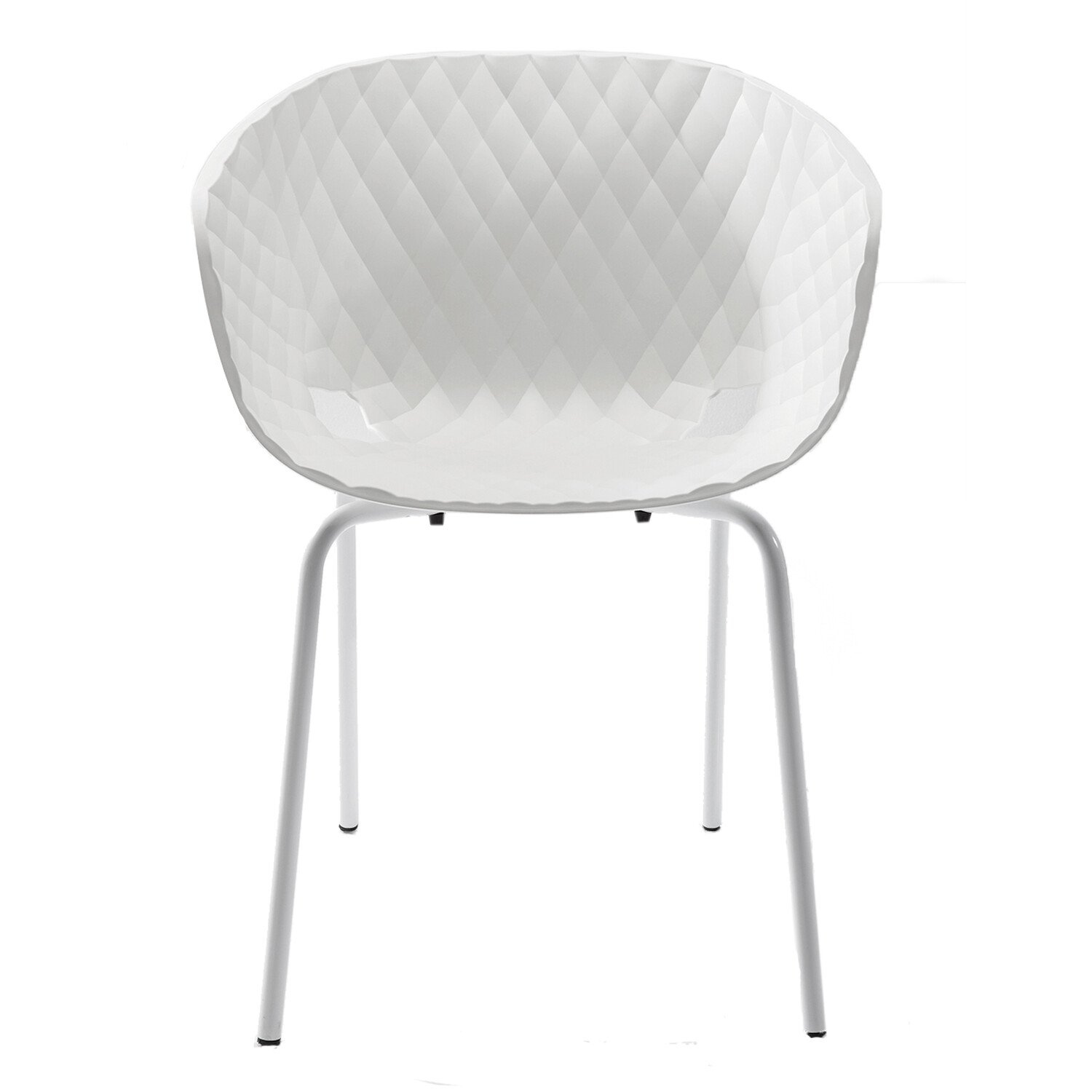 Kare Design Eetkamerstoel Radar Bubble Wit 80 x 59 x 55