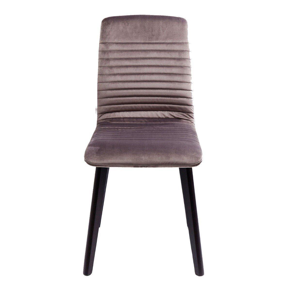 Kare Design eetkamerstoel lara fluweel grijs 92 x 44 x 45