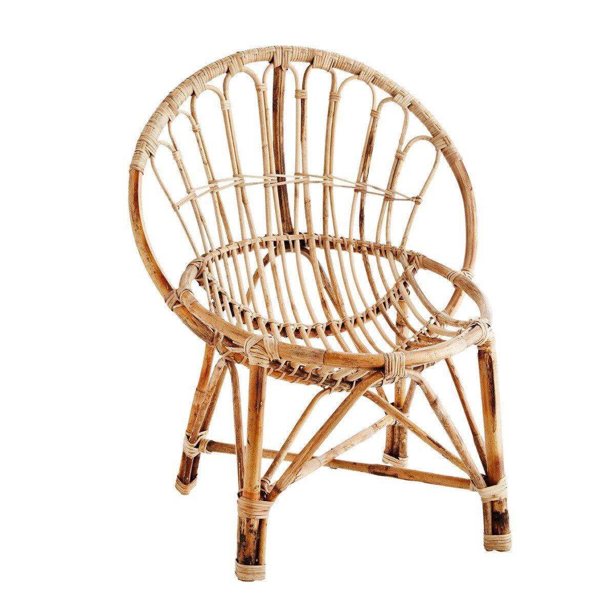 Madam Stoltz fauteuil bamboo naturel 63 x 61 x 67