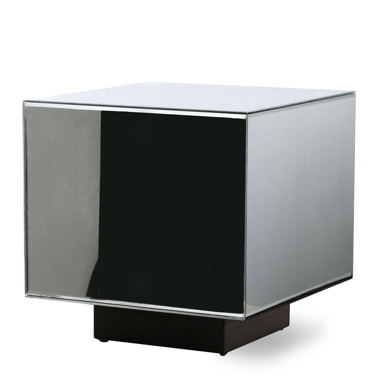 HKliving Bijzettafel Blok Spiegelglas Clear M 40 x 40 x 40