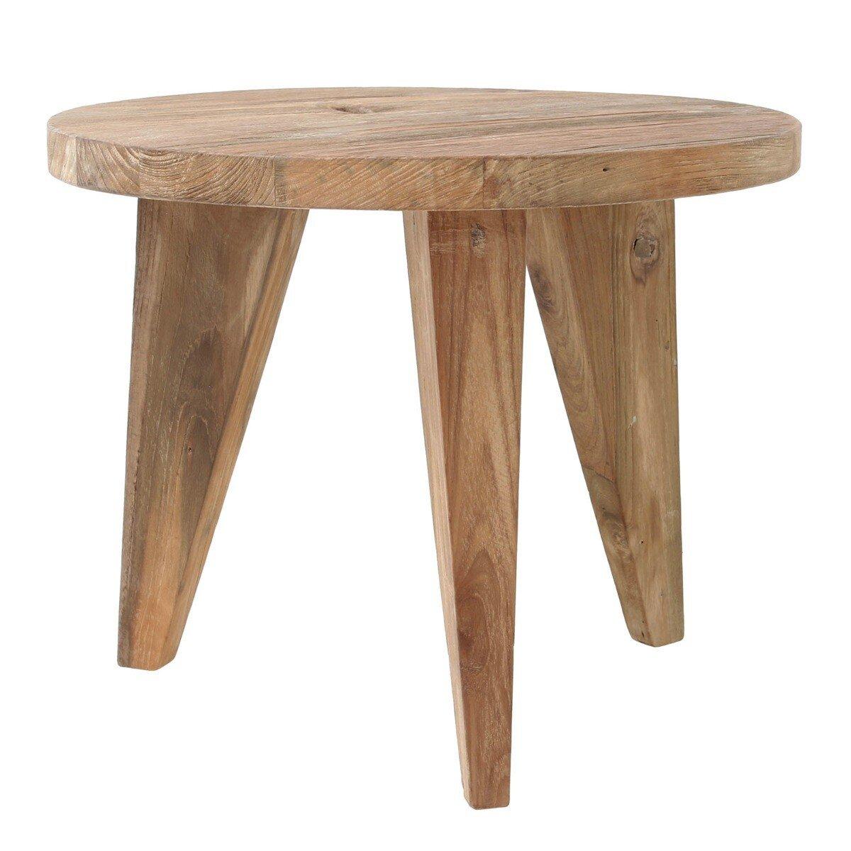 HKliving bijzettafel teak M hout naturel 41 x �50