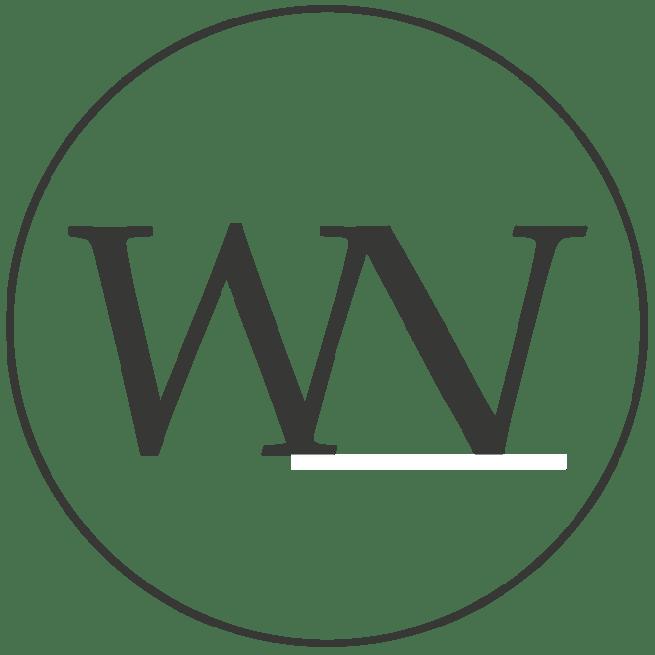 behangcirkel l engraved clouds white ø190