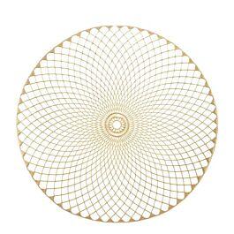 Placemat Crystal goud 38cm