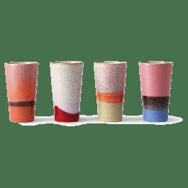 Mok Latte Set 70s Ceramics 13 x 7.5 x 7.5