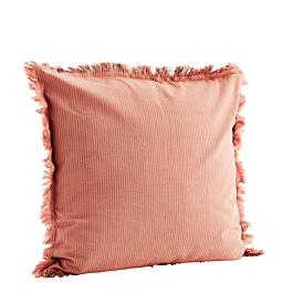 Kussenhoes Rib Fringes Roze 50 x 50