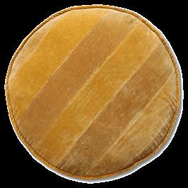 Stoelkussen Striped Velvet Okergeel 5 x 60 x 60