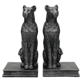 Boekenhouder Leopard Polyresin Zwart 23.5 X 13 X 23