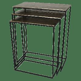 Bijzettafel Aluminium Goud 53 X 29 X 66 S/3