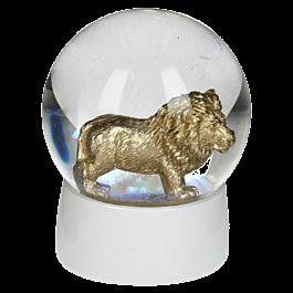 Water Globe Lion Glas Goud 65MM