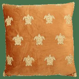 Sierkussen Turtle Velvet Terra 60 X 60