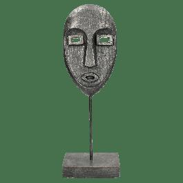 Ornament Face Zwart 14 X 8 X 40