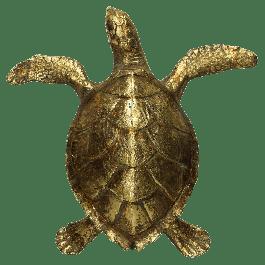 Ornament Turtle Polyresin Goud 26.5 X 7.5 X 27