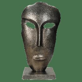 Ornament Face Aluminium Zwart 19.5 X 11 X 38