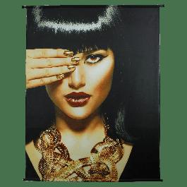 Wanddoek Cleopatra Velvet Goud 140 X 170