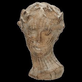 Ornament Head Polyresin Bruin 21.5 X 15 X 26