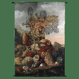 Wanddoek Shells Velvet Rood 105 X 136