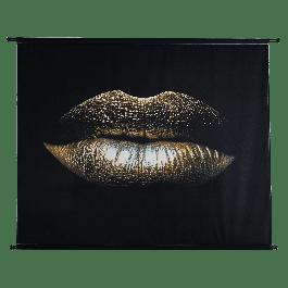 Wanddoek Glamour Kiss Velvet Goud 146 X 110