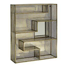 Wandrek mirror metaal goud www.wantsandneeds.nl - 1182 Nordal