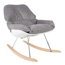 schommelstoel ross polyester grijs  84 x 76 x 98