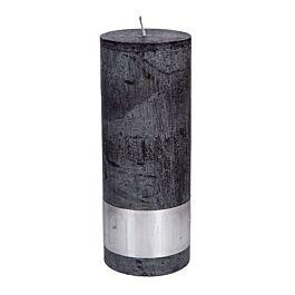 Kaars charcoal black 18x7cm - 656510 PTMD - www.wantsandneeds.nl
