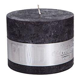 Kaars charcoal black 9x12cm - 656512 PTMD - www.wantsandneeds.nl