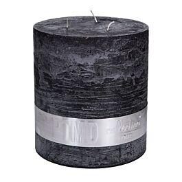 Kaars charcoal black 3 lonts 18x16cm - 656513 PTMD - www.wantsandneeds.nl