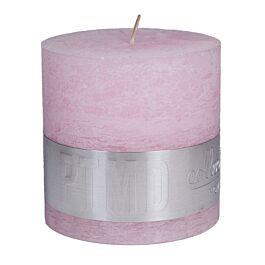 Kaars Rustic new pink blok 10x10 - 656561 PTMD - www.wantsandneeds.nl