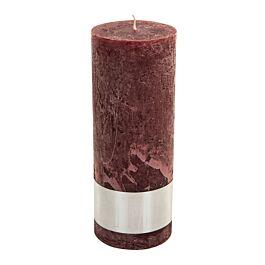 Kaars Rustic red pillar candle 18x7 - 659557 PTMD - www.wantsandneeds.nl