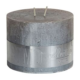 Kaars metallic taupe 9x12cm - 677585 - PTMD - www.wantsandneeds.nl