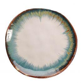 Bord Organic White Blue - Kare Design - www.wantsandneeds.nl - 52655