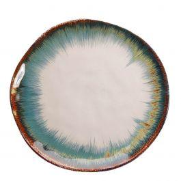Dinerbord Organic White/Blue - Kare Design - www.wantsandneeds.nl - 52651